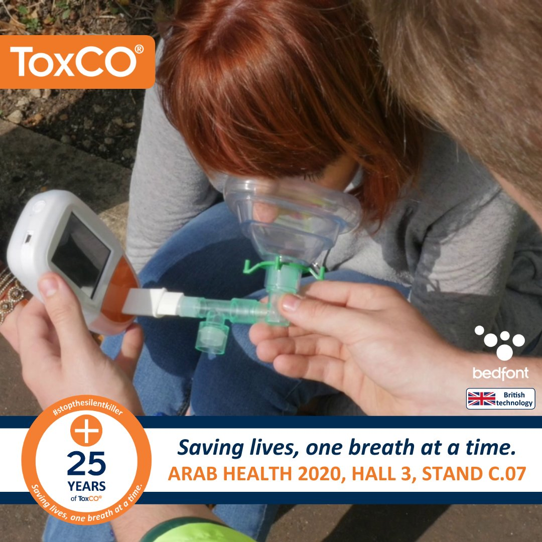 Our ToxCO has been #savinglives for 25 years now and can help your emergency services crew instantly indicate CO poisoning in patients. Visit Hall 3, Stand C.07 at #ArabHealth from today.  #COpoisoning #emergencyservices #breathanalysis #COmonitoring #carbonmonoxidepic.twitter.com/TLcMoqeeSY