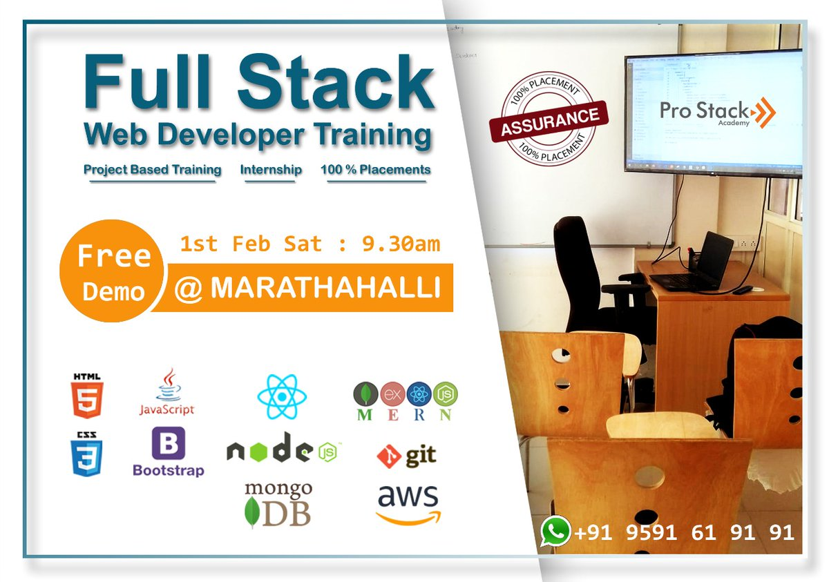 Learn new technologies. Attend free demo classes. Hands-on Coding from the first day of #FullStackWebDevloper training session.<br>http://pic.twitter.com/ry1Bic9lCc