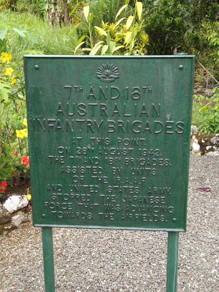 Memorial to Australian 7th & 18th Infantry Brigades & US forces which stopped the Japanese advance during 28-31st August 1942. The Japanese had been eliminated from the Milne Bay/Alotau of Papua New Guinea area by 7.9.42 <br>http://pic.twitter.com/d6sOMY6D3z