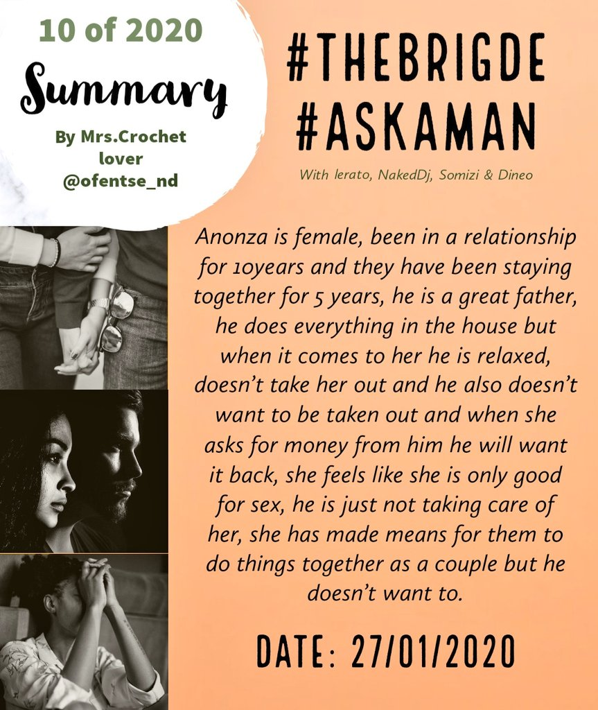 #TheBridge #AskAMan #Summary PARTNER DOESNT WANT TO PARTICIPATE