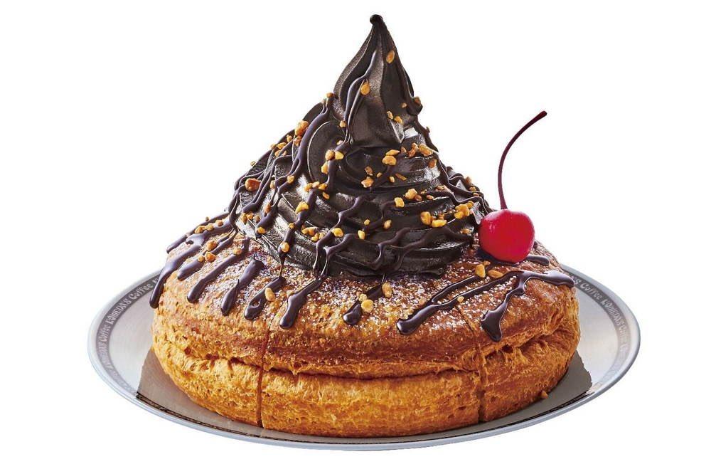 2月7日よりコメダ珈琲店から、GODIVAとコラボし、濃厚なチョコレートソフトクリームと、ローストしたアーモンドプラリネをトッピングした「ショコラノワール」が新発売されます✨