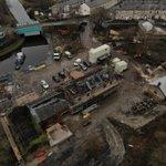Great aerial shot of the renovation works now underway at Finsley Gate Wharf, Burnley @Rosslee1 @CRTNorthWest @HeritageFundNOR #Burnley #Restoration
