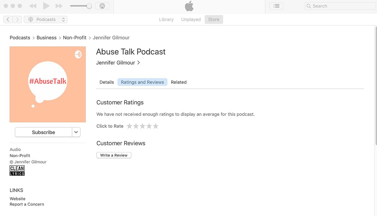 Do you listen to the #AbuseTalk Podcast on Apple Podcasts? Apparently 24% of listeners are using this platform.   We would love you to write a review, it could take less than a minute.   Thank you in advance #podcast #domesticabuse #podcasthost pic.twitter.com/FakMdtV8VP