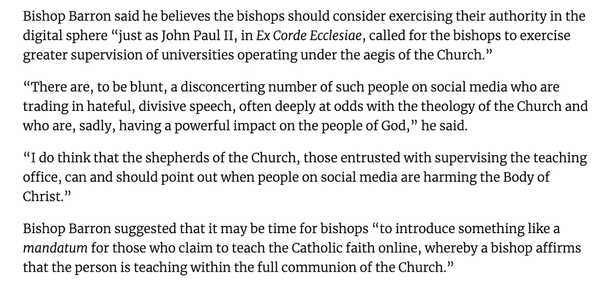 """Barron is the Novus Ordo bishop who told Ben Shapiro that Jesus Christ is only the """"privileged way of salvation""""..."""