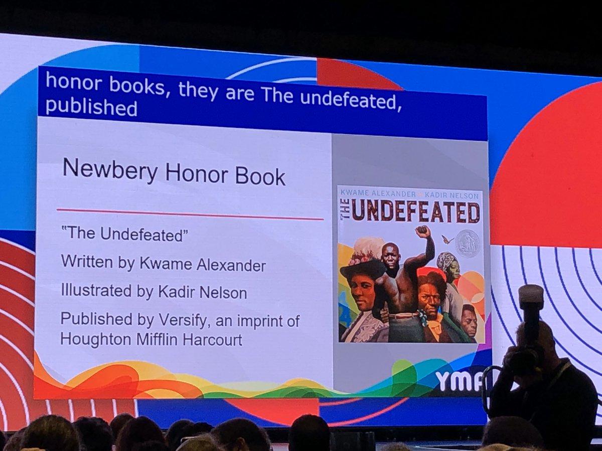 The John Newbery Medal honor books are... #alamw20 #alayma20 @wearealsc