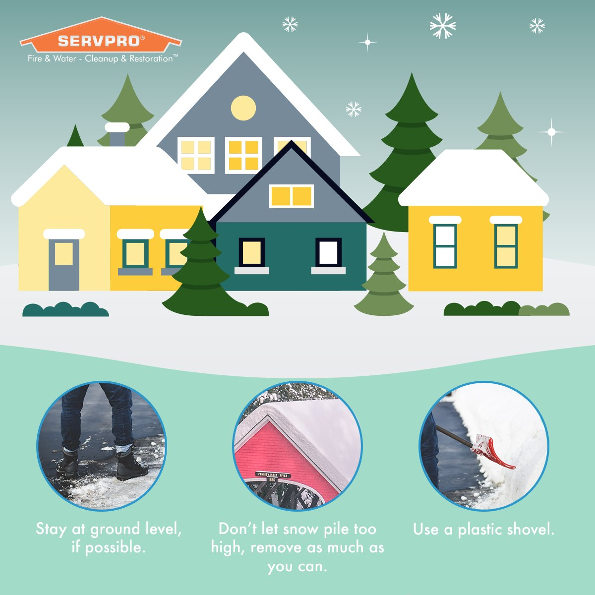 Snow on your roof can lead to leaks, mildew buildup in your attic, and damage to your gutters. Follow these 3 tips for safe snow removal.<br>http://pic.twitter.com/I4o4qIGFAy