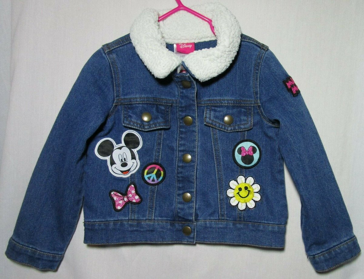 Snap Front Denim Jacket with Faux Fur Collar and accented with Minnie Mouse, Peace Sign, Flower http://ebay.com/itm/193310087437 … Disney Girl's Size 4T #eBay Marbrasw #winterready #fashionwant #winterlook #fashionlovers #outfitinspirationpic.twitter.com/4Iho5dLkuU