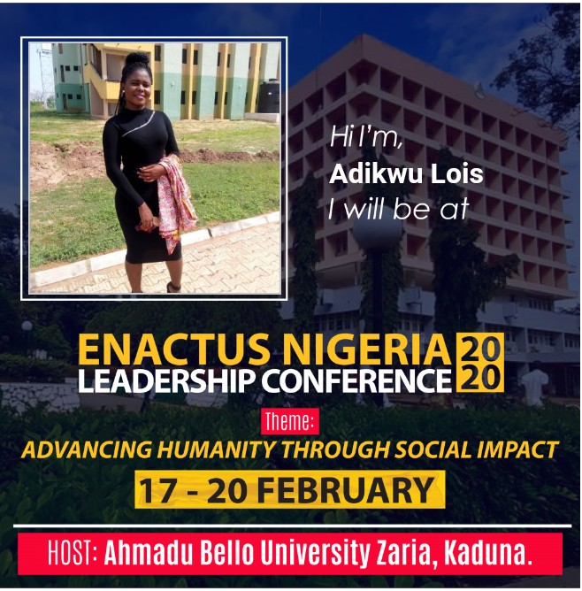The enactus 2020 leadership conference is around the corner and we are  all excited to meet and share innovative ideas. #enactusng #weallwin #enactuslc2020 #ELC2020pic.twitter.com/587Z3PH40R