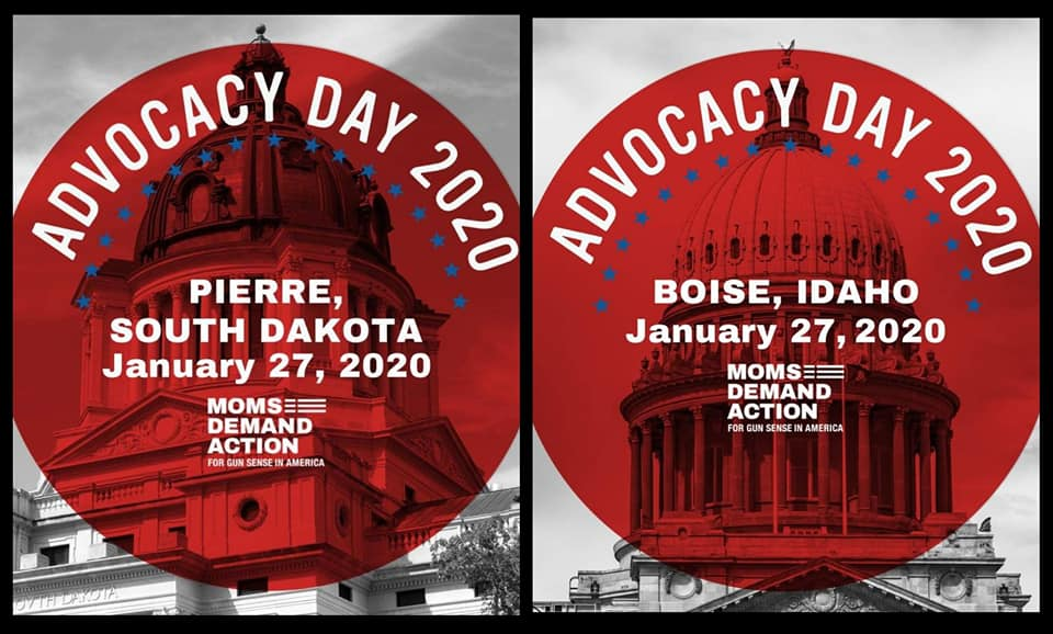 Let's go @MomsDemand South Dakota and Idaho! Have a great Advocacy Day and #KeepGoing Maryland Moms support you in your fight to #EndGunViolence<br>http://pic.twitter.com/cM7AYRyiCF