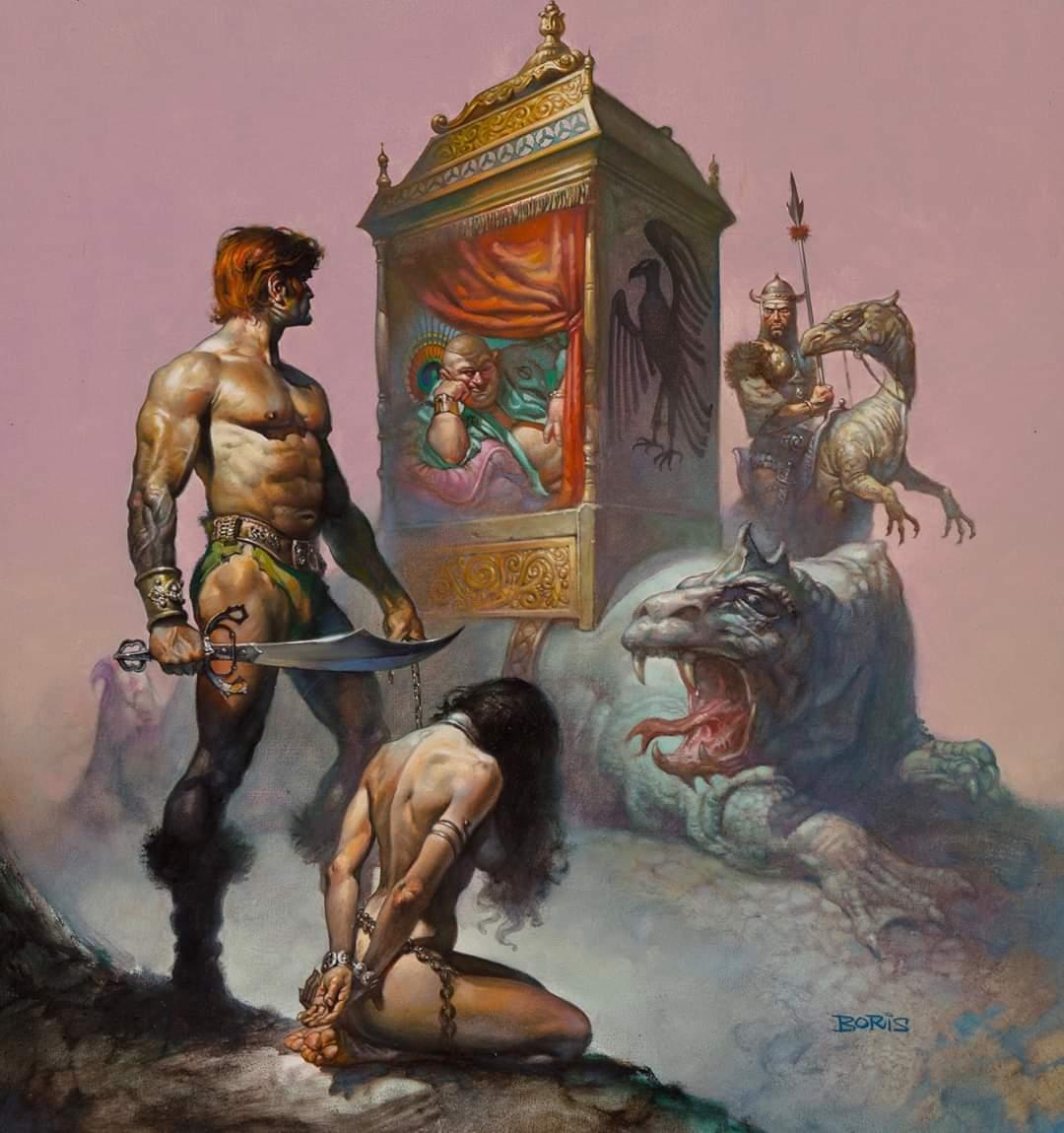 Boris Vallejo Tarnsman of Gor book cover art (1977)
