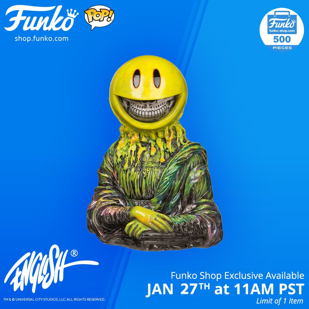 #RT @OriginalFunko: Funko Shop Exclusive Items: Ron English Mona Lisa Grin Vinyl and Skate Board Deck funko.com/blog/article/f… Visit shop.funko.com at 11AM PST. These items are available for online purchase only. @ronenglishart #RonEnglish …