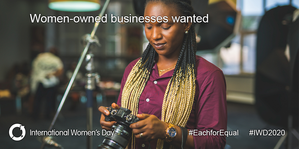 We want to make IWD events 100% woman-owned business supplied. We're looking for all kinds of suppliers - list your business today  http://bit.ly/IWDSuppliers  #EachforEqual #IWD2020 #FemaleBusinessOwnerpic.twitter.com/6IysyqJOp6