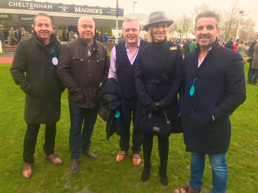 A few pics from the weekend @CheltenhamRaces. Representing @captainnash in aid of the @SirGWFoundation. A royal hello as the very lovely #ZaraTindall came and had a chat. #coolmix #northsealogistics https://twitter.com/SirGWFoundation/status/1220995094641332224…pic.twitter.com/7vos0hYQCg