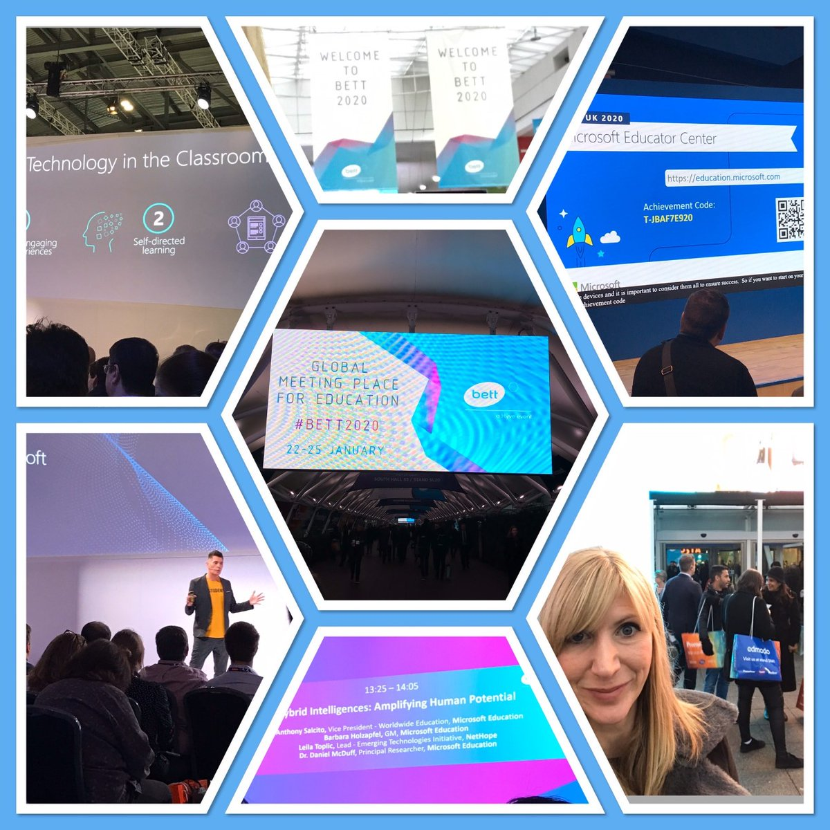 Had a great time at the BETT show in London. It was so interesting to see the amount of groundbreaking tech that's out there to support young people to develop so many different skills. And I didn't even get lost on the tube!  Lizzie #bett2020 #technologyisamazing pic.twitter.com/kBOseWXdYe