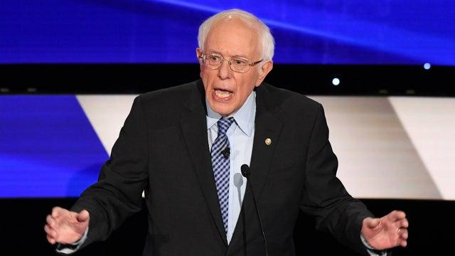In een peiling gaat Bernie Sanders flink aan de leiding in New Hampshire, de staat die morgen over twee weken stemt #Amerika