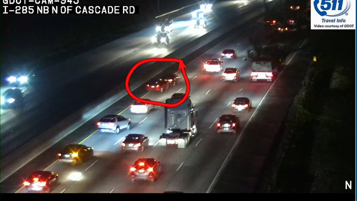 Wreck in the left lane I-285 NB at Cascade Road on the west side perimeter.  #MorningRushATL <br>http://pic.twitter.com/TlRzzlhJ4i