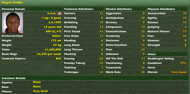 "Who was your ""go to wonder-kid"" from @FootballManager of old?  Mine was always Freddy Adu!  I've always been a little disappointed that he never lived up to his digital potential."
