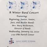 Image for the Tweet beginning: St James Band Concert ~