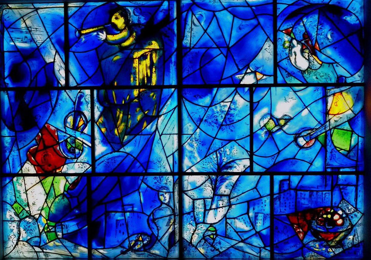 """Marc #CHAGALL, """"BLUE STAINED GLASS"""" #art #arttwit #twitart #iloveart #glass #artlover<br>http://pic.twitter.com/0J9jDjIGon"""