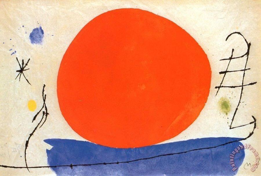 "Joan #MIRÒ, ""THE RED SUN"" 1950 #art #arttwit #twitart #surrealism #constellations #JoanMirò #red #sun #iloveart #arrlover<br>http://pic.twitter.com/Nmyr88LBoJ"