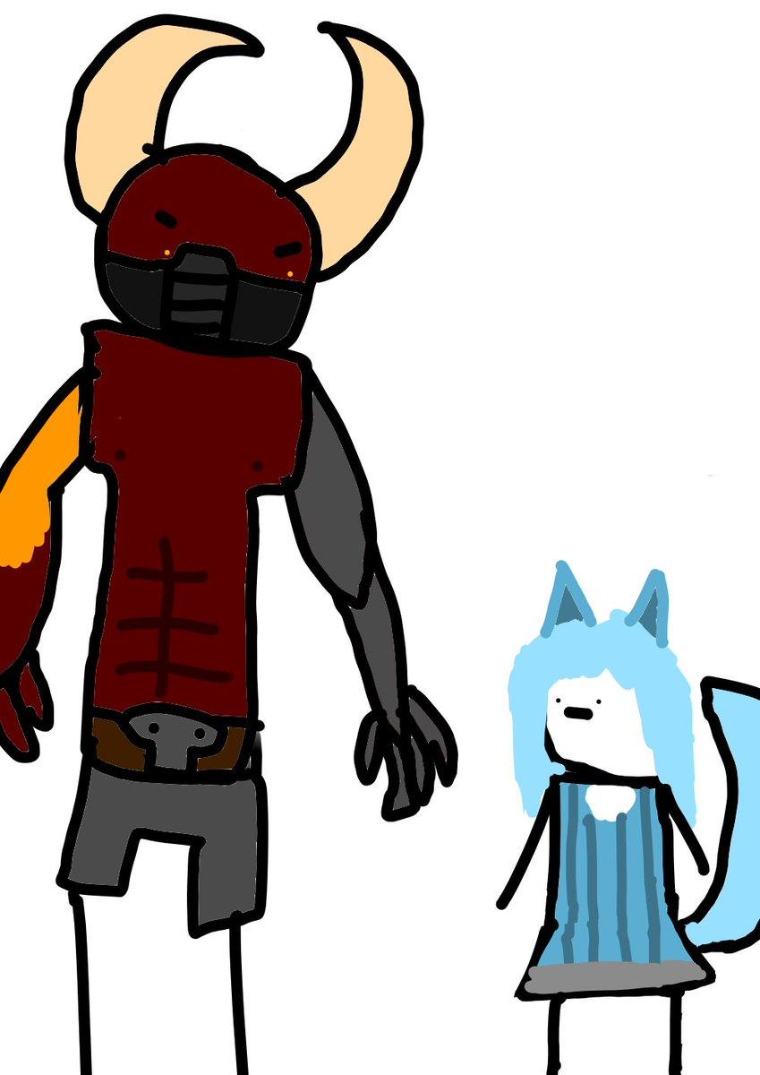 angry demon thing vs tiny fox person  #Paladinsart #Paladins <br>http://pic.twitter.com/radfVRKTwS