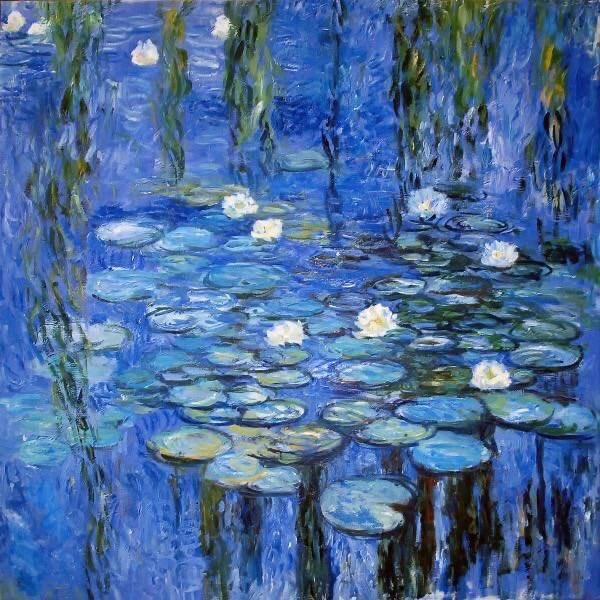 """Claude #MONET, """"LIGHT BLUE WATER LILIES"""" #ilovemonet #art #arttwit #twitart #iloveart #artlover #blue<br>http://pic.twitter.com/8tKeyYeaQu"""