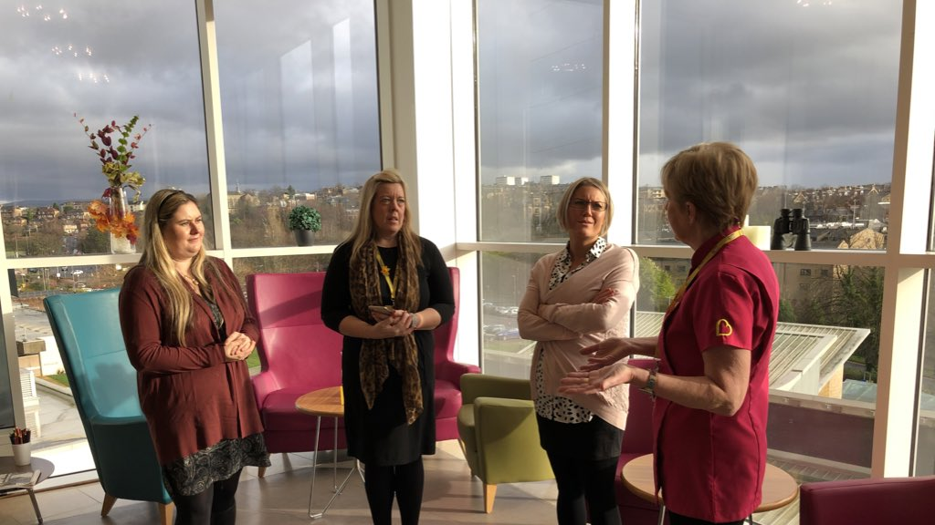 Such lovely spaces at the places we visited today. There are fabulous support services based in the Beatson and our Partnership Forum learned all about them and how to refer people affected by cancer into them.