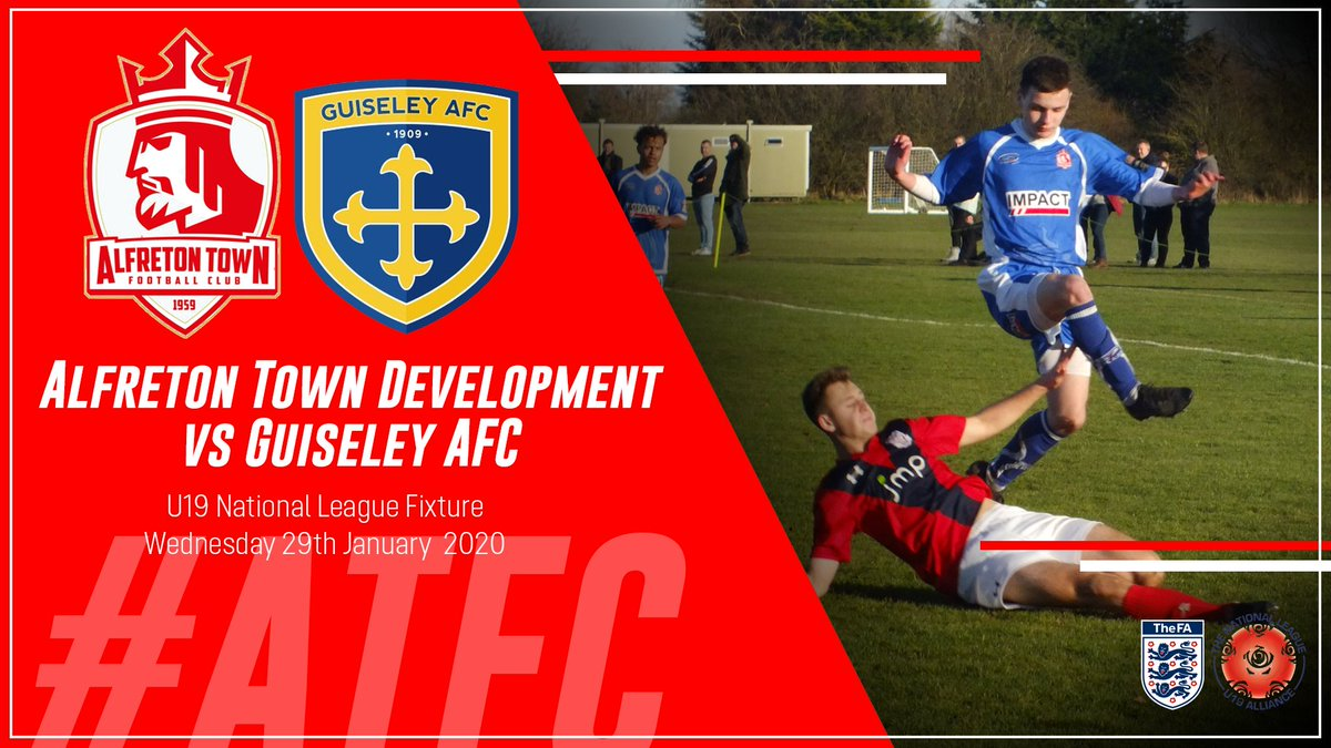Its matchday tomorrow! 👊 ⚽️ | Alfreton Town Development vs. Guiseley AFC 🏆 | U19 National League 🏟 | Impact Arena, Alfreton 🕚 | 1:00pm KO #ATFC🔴⚪️