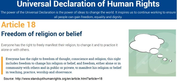 @UNESCO @AAzoulay @antonioguterres @AAzoulay @mbachelet @UN_PGA UDHR Art 18. 𝗣𝗟𝗘𝗔𝗦𝗘 focus on #HumanRights education, on tomorrows leaders. Start a yearly celebration of @UN #UDHR on #HumanRightsDay at all classrooms, schools in the world coordinated by @UN, @UNESCO, @UNHumanRights, @UNICEF.
