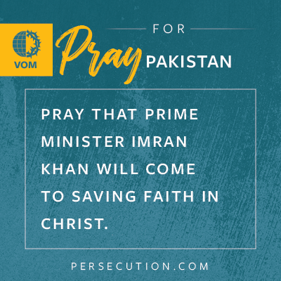 RT @VOM_USA: PAKISTAN: Pray that Prime Minister Imran Khan will come to saving faith in Christ. https://t.co/7iqtG8m9NK