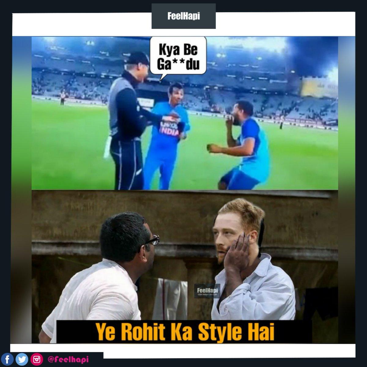 Kya Be Ga**du😂😂😂 . . #feelhapi #guptill  #kyabegandu #rohitsharma #chahal #cricket #indvsnz #funny #memes #meme #funnymemes #lol #dankmemes #comedy #fun #love #follow #memesdaily #like #humor #funnyvideos #instagram #cute #haha #laugh #instagood #jokes #copycat