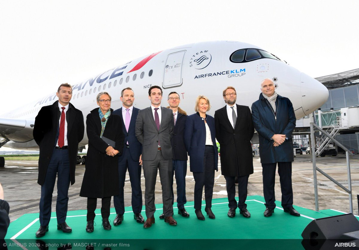 Honoured to welcome @Elisabeth_Borne, @Djebbari_JB, @AirFrance, @Safran, @Suez and @Total who, together with #Airbus, are working towards the development of a Sustainable Aviation Fuel ecosystem in France. ➡ https://fly.airbus.com/30UGuKv