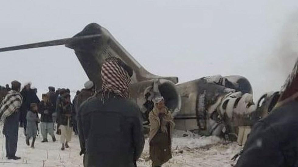 Avión en Afganistán era de Estados Unidos