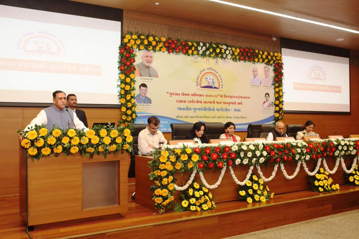 Gujarat to launch 1,302 programmes to ensure not a single child remain undernourished in Anganwadis by next R-Day: CM