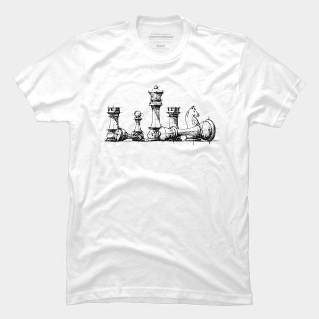 The Master @designbyhumans by @Boby_Berto  #chess #master #lineart #drawing #sketch #art #illustration #games #tshirt #clothing