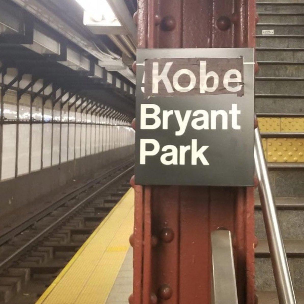At Bryant Park station today in NYC (via @davidchang)