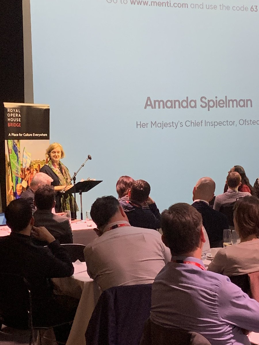 We've been joined by @amanda_spielman, Ofsted Chief Inspector at #Championingarts2020.