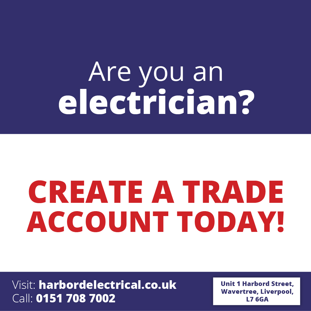Create a trade account today with harbord and save on our extensive range of electrical products.   To find out how to create a trade account call us on 0151 708 7002   #electricians #professionals #tradepic.twitter.com/XYqbYPcM7y