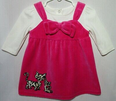 Pink Velour Dress with Bowtie and Appliqued Cats + Long Sleeved White Top http://ebay.com/itm/193308209637 … Gymboree Girl's Size 6-12 Months #eBay Marbrasw #winterready #fashionwant #winterlook #fashionlovers #outfitinspirationpic.twitter.com/xG7da9Pscu