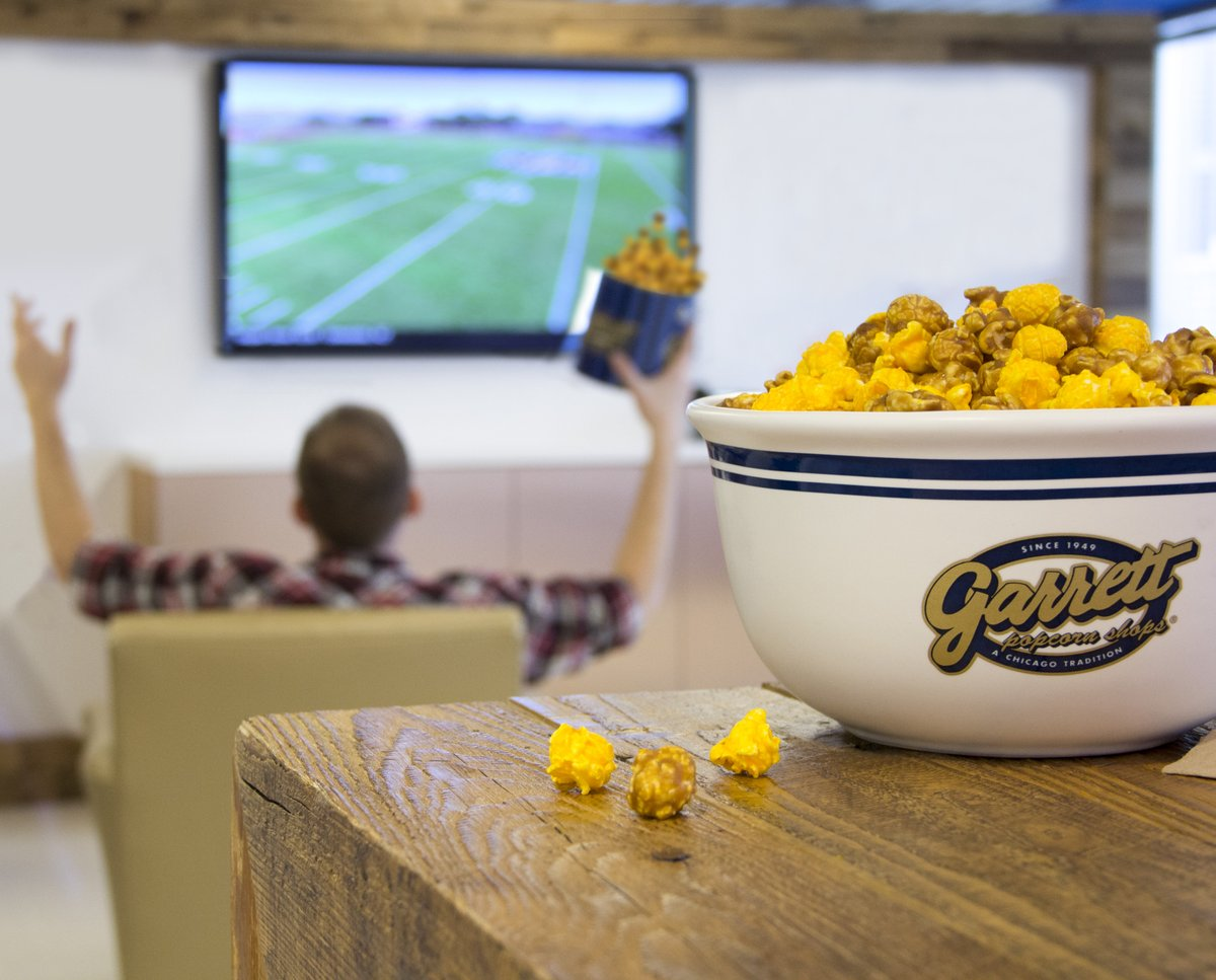 It's the big game! Show us how you're celebrating with Garrett using #GarrettPopcorn!