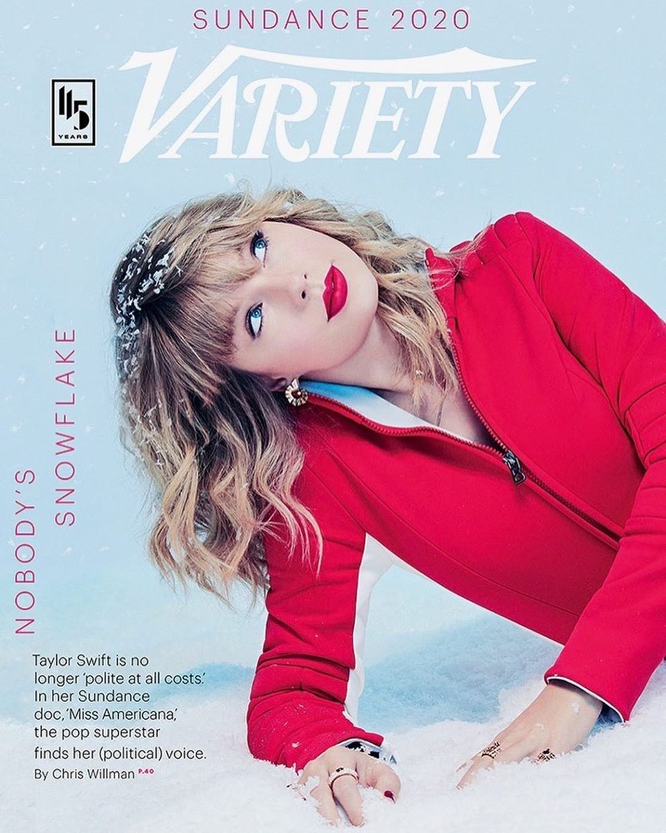 ☃️❄️Sundance was as snowy and fun as this photo shoot foreshadowed❄️☃️ Thank you so much @Variety @ChrisWillman @shirleyhalperin for this cover/interview and Mary Ellen Matthews for taking these pics. Can't wait for Jan 31 when #MissAmericana comes out on @NetflixFilm!