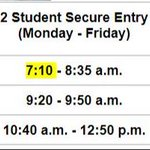 Image for the Tweet beginning: Updated hours for the secure