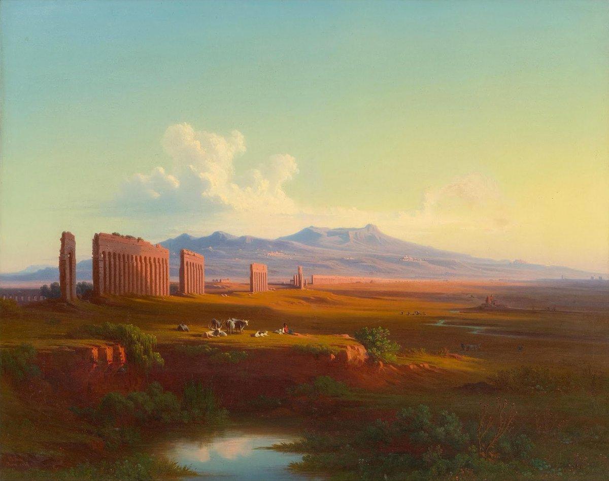 Weite Landschaft bei Rom (Campagna di Roma), 1859. Privatsammlung. pic.twitter.com/psuu7tRyMc