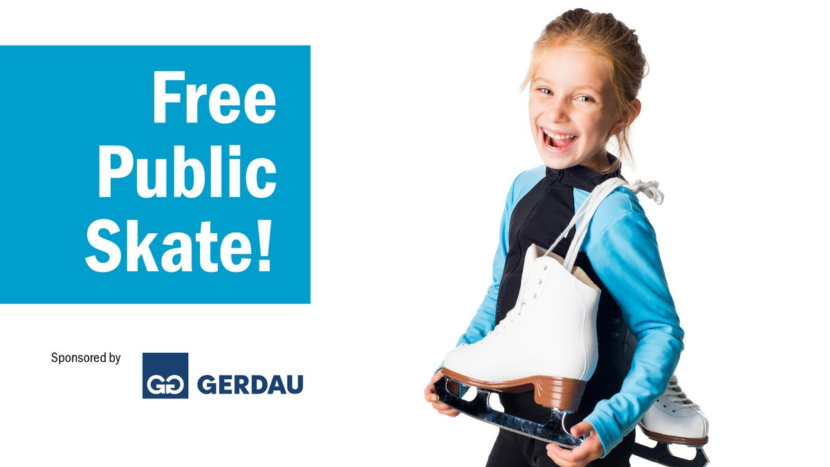 Head to the rink at Iroquois Park Sports Centre for a free skate hosted by @gerdau_eng on February 1 from 12:30-2:15 pm: bit.ly/38oebqj