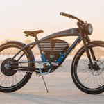 Image for the Tweet beginning: Vintage Electric's Shelby e-bike combines