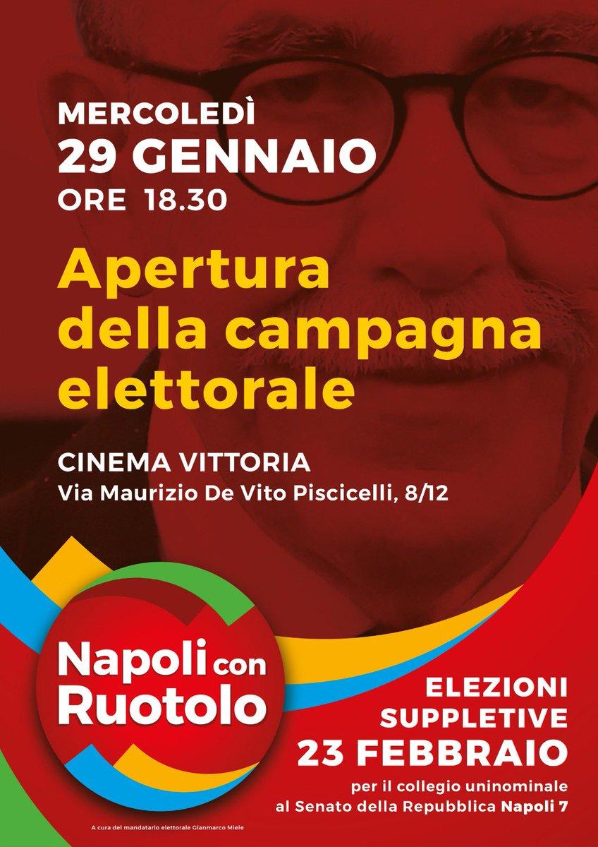 #napoliconruotolo La destra sovranista di MatteoSalvini è stata sconfitta in #EmiliaRomagna, la fermeremo anche noi a Napoli il 23 febbraio dove si vota per un collegio senatoriale. Sono il candidato di tutti. Società civile e centrosinistra allargato. #napolinonsilega