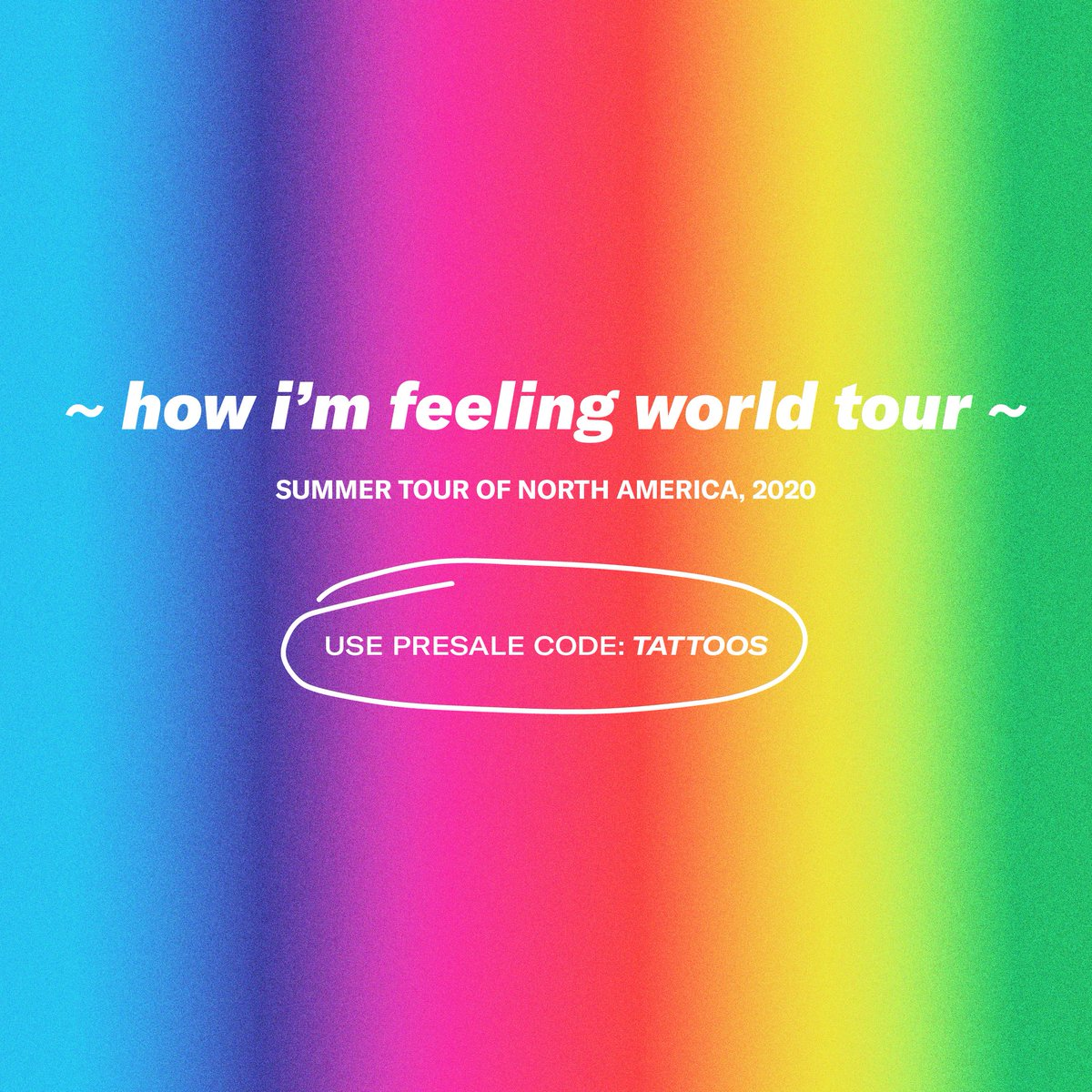 NORTH AMERICA, GET PRESALE TICKETS TODAY 10AM LOCAL TIME USING CODE TATTOOS lauvsongs.com