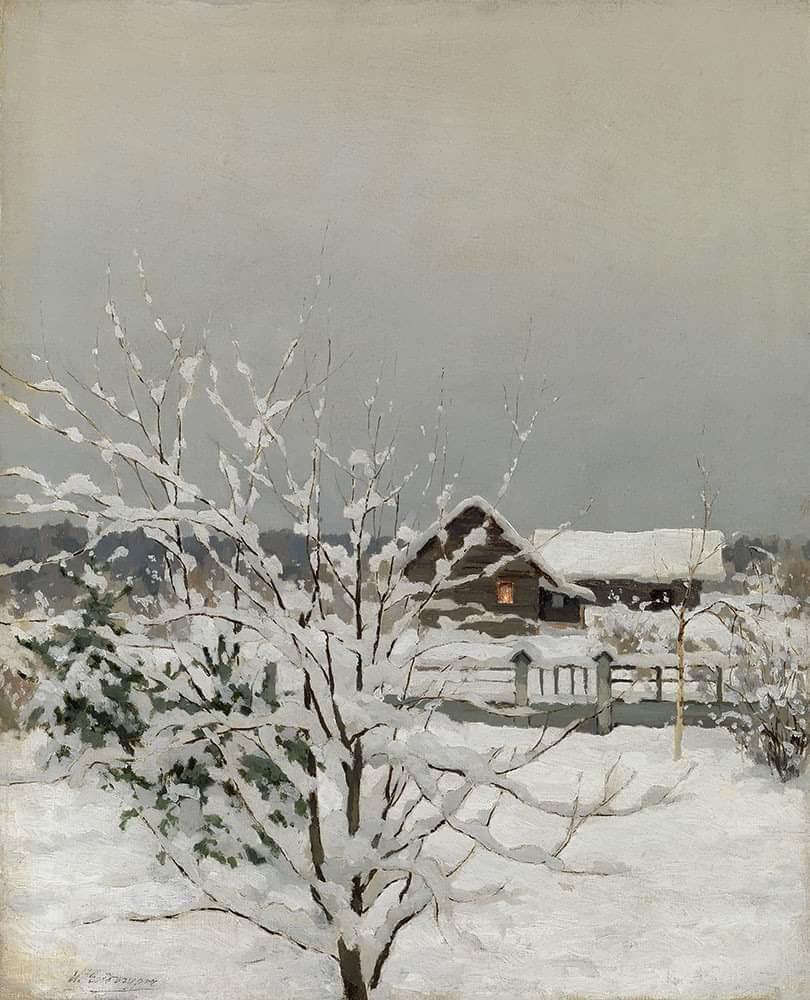 """Winter Landscape"" - Ivan Yendogurov, Russian (1861 - 1898) Posted by Carmen Belu on Facebook  #Iloveart #ArtYArt #Artlovers<br>http://pic.twitter.com/RwsIlNOJYA"