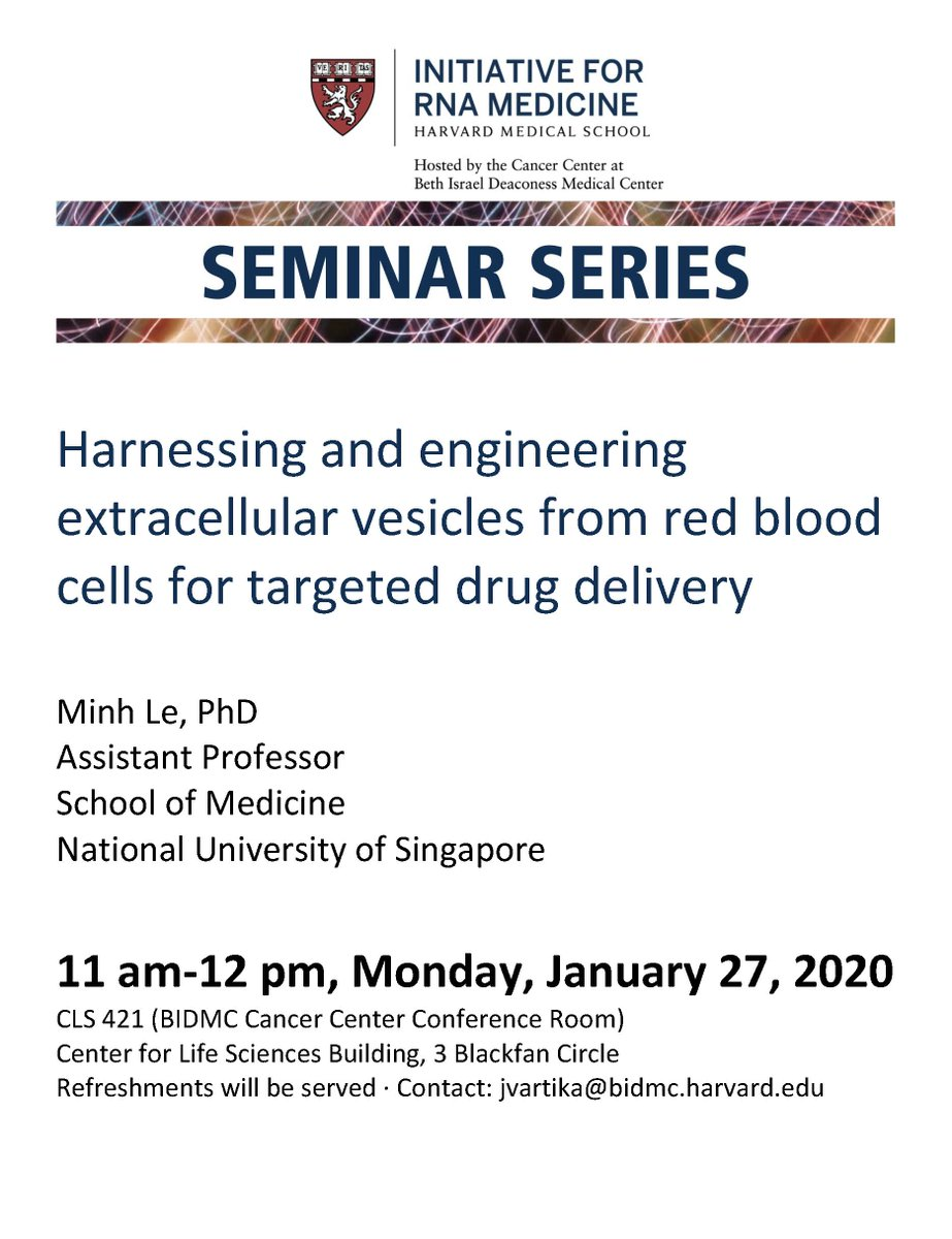 Frank J Slack Phd On Twitter Join Us Today To Hear Minh Le From Nusingapore Please Note The Seminar Is At 11am Hope You Can Make It