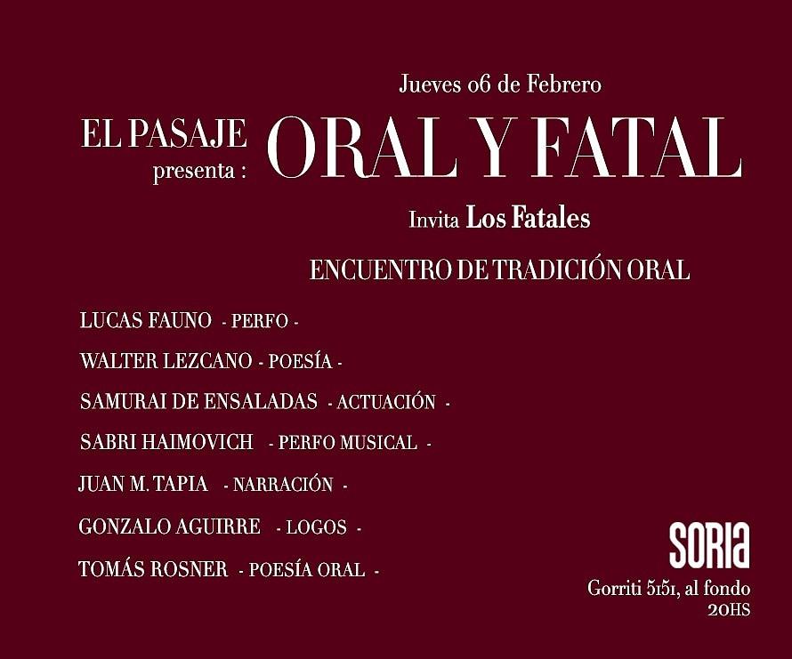 en febrero leo en palermo. muchas gracias por la invitación a @los_fatales